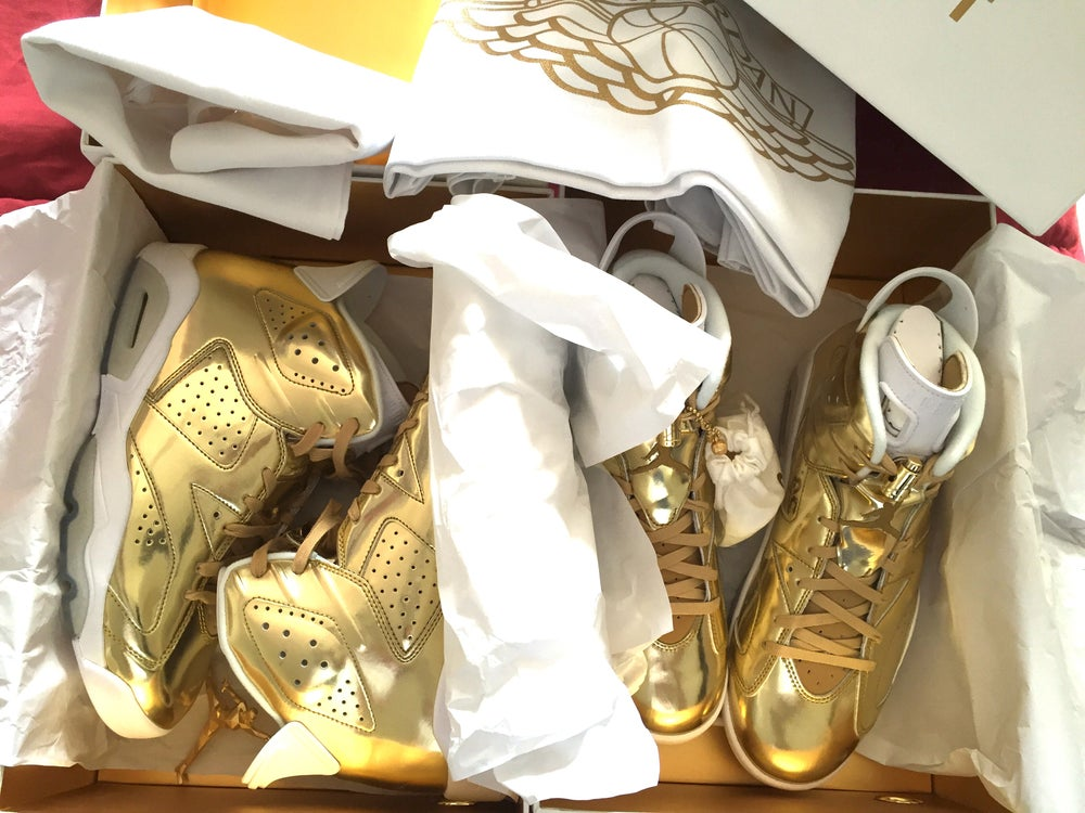 Image of Nike Jordan 6 Pinnacle Gold / White