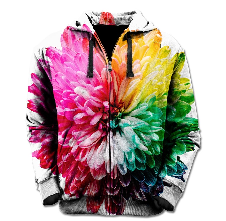 Image of Flower Bursts Zip Up