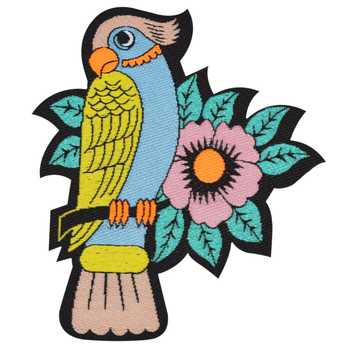 Iron-on Parrot Patch