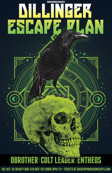 Image of Dillinger Escape Plan Gig Poster