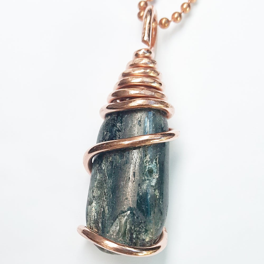 Image of Copper Wrapped Blue Kyanite