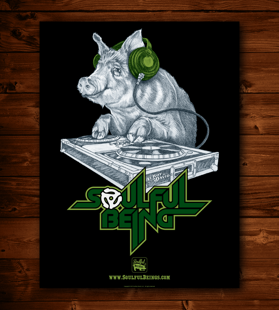 "Image of Deejay Pig 18"" x 24"" Poster"