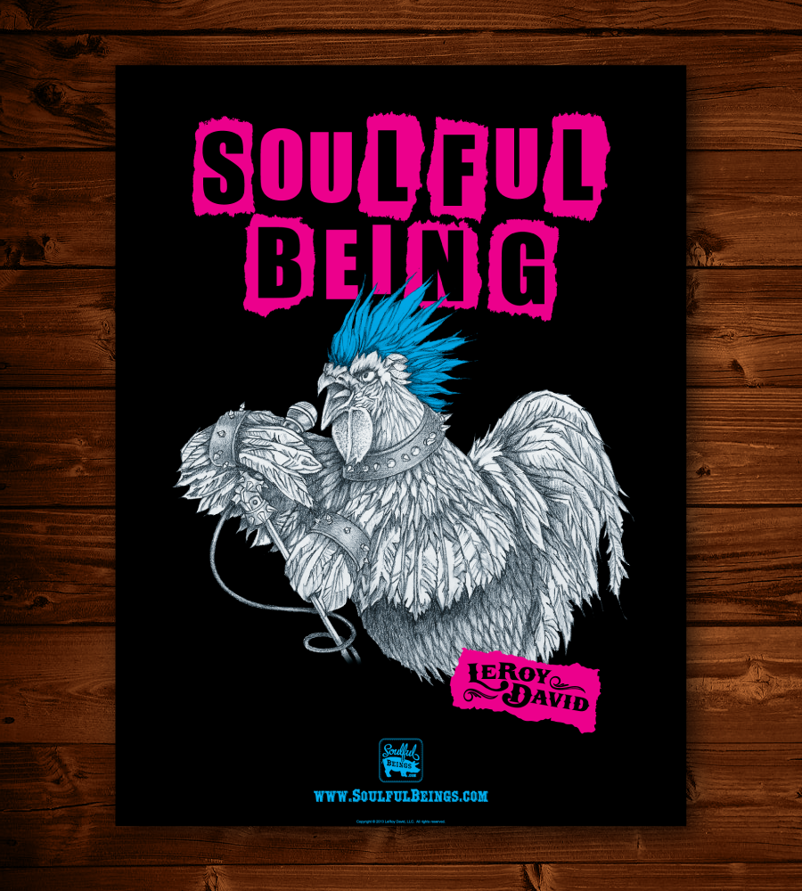 "Image of Punk Rooster 18"" x 24"" Poster"