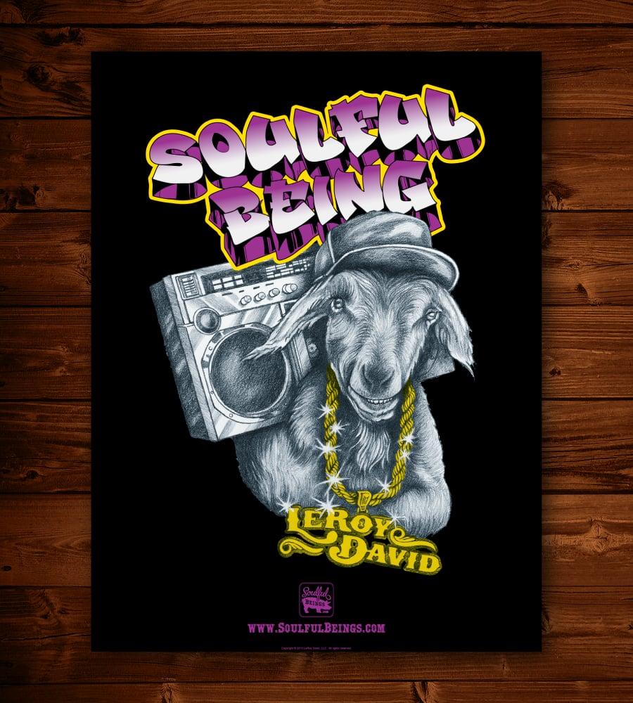 "Image of Hip Hop Goat 18"" x 24"" Poster"