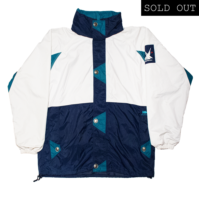 Image of Helly Hansen Twins Sail 90s Vintage Windbreaker White/Blue