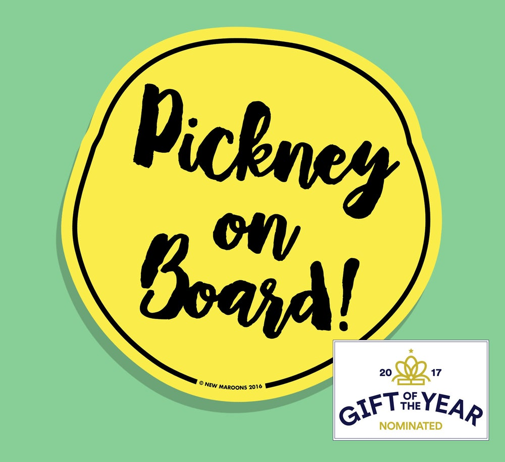 "Image of ""Pickney on Board"" Car Sticker"