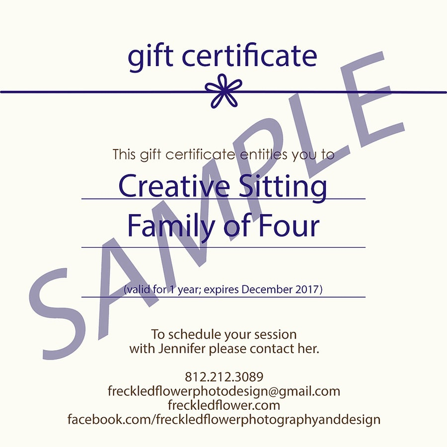 Image of Gift Certificates - Full Family Session Fee