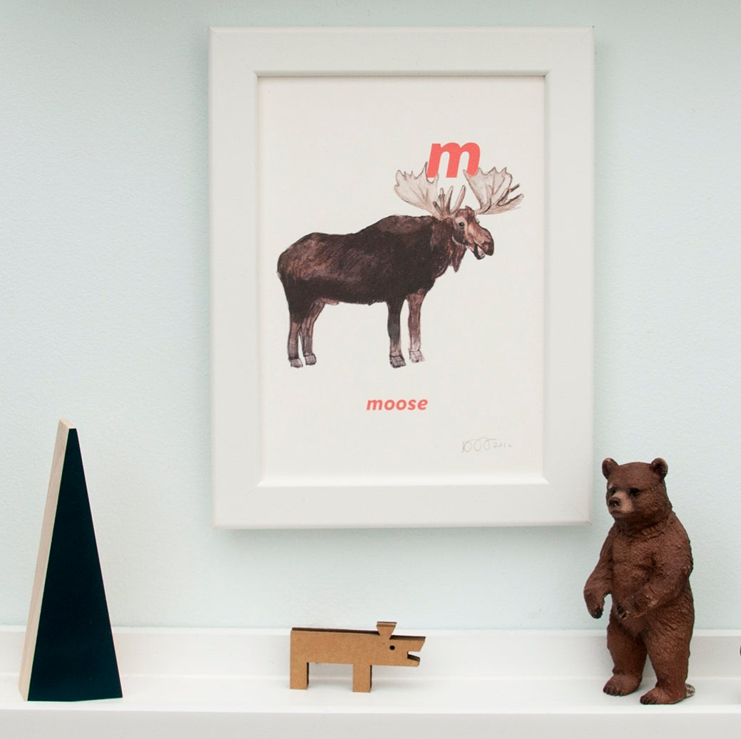 Image of M - Moose Letter Print