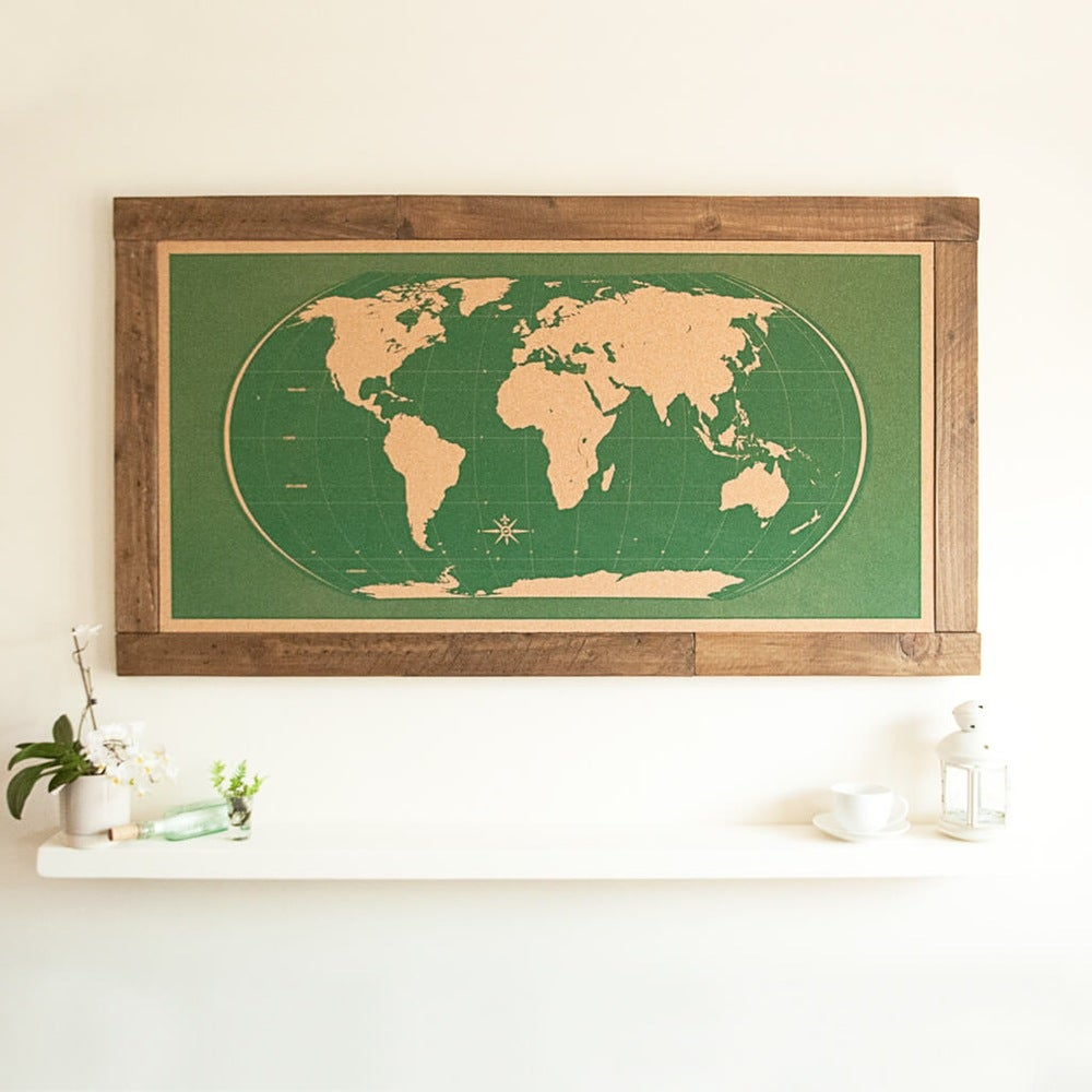 Image of Shipwrecked Green World Map