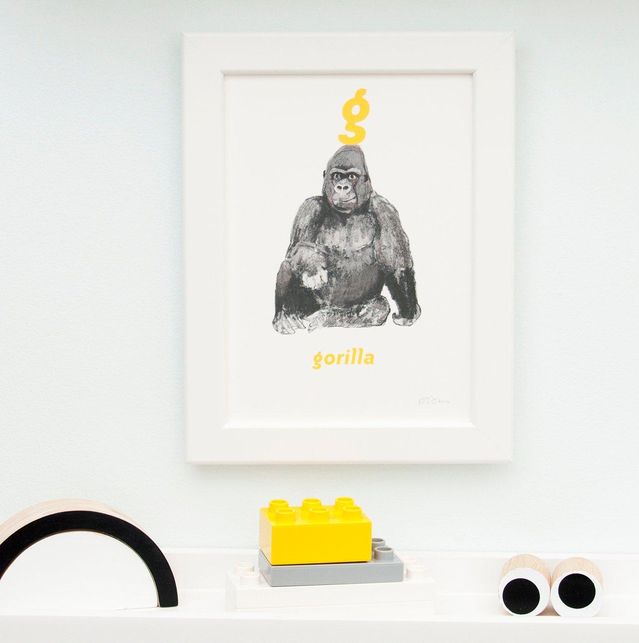 Image of G - Gorilla Letter Print
