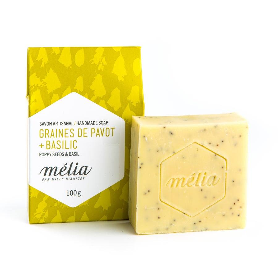 Image of Poppy Seed and Basil Organic Soap
