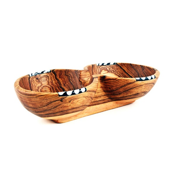 Image of Condiment Bowl with Batik Inlay