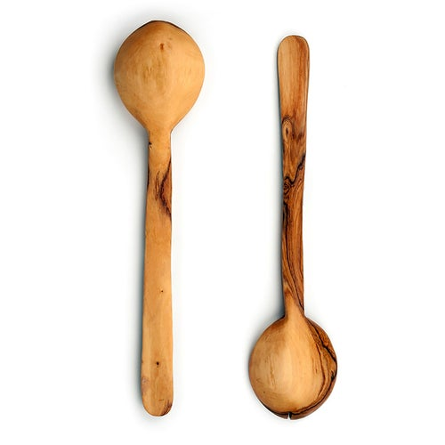 Image of Olive Wood and Polka Dot Servers