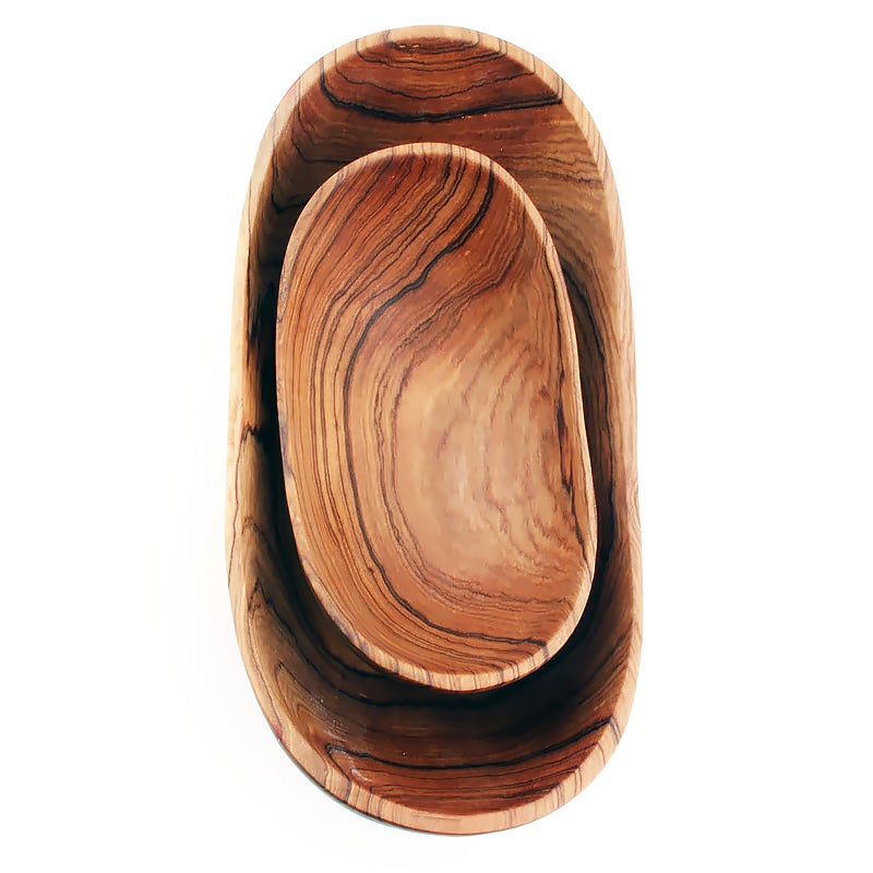 Image of Olive Wood Condiment Bowls