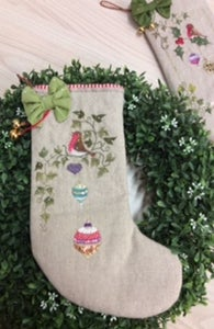Image of The Robins Ivy Christmas Stocking