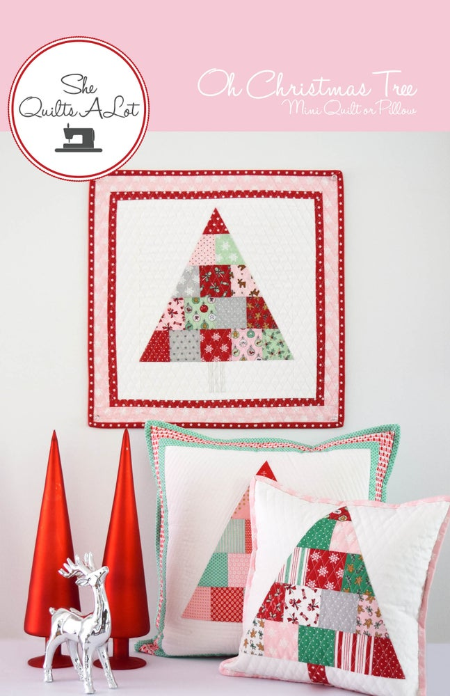 Image of Christmas Tree Mini Quilt & Pillow PDF Pattern