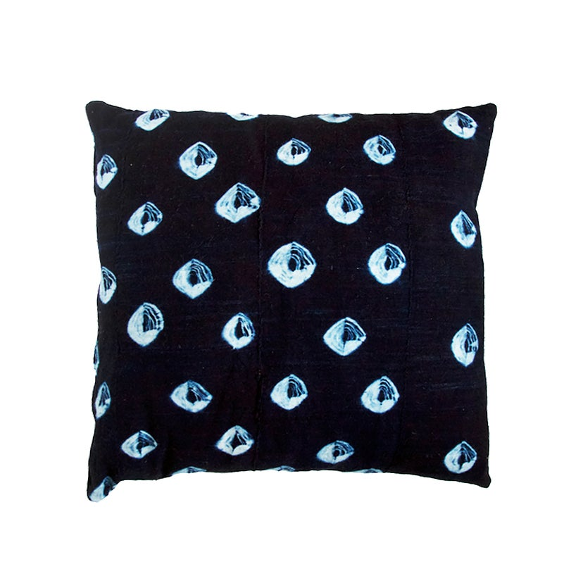 Image of Indigo Mud Cloth Pillow no. 09