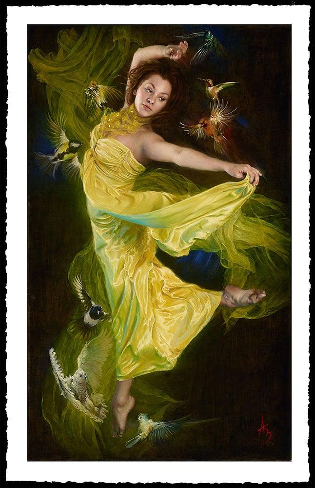 Image of Alexandra Manukyan 'Enchanting Down Chorus'  Giclée Fine Art Print