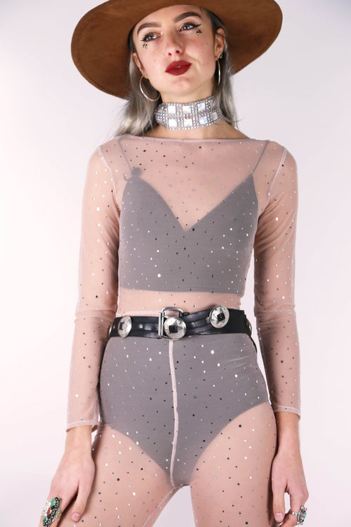 Image of Bebe Jumpsuit - Champagne