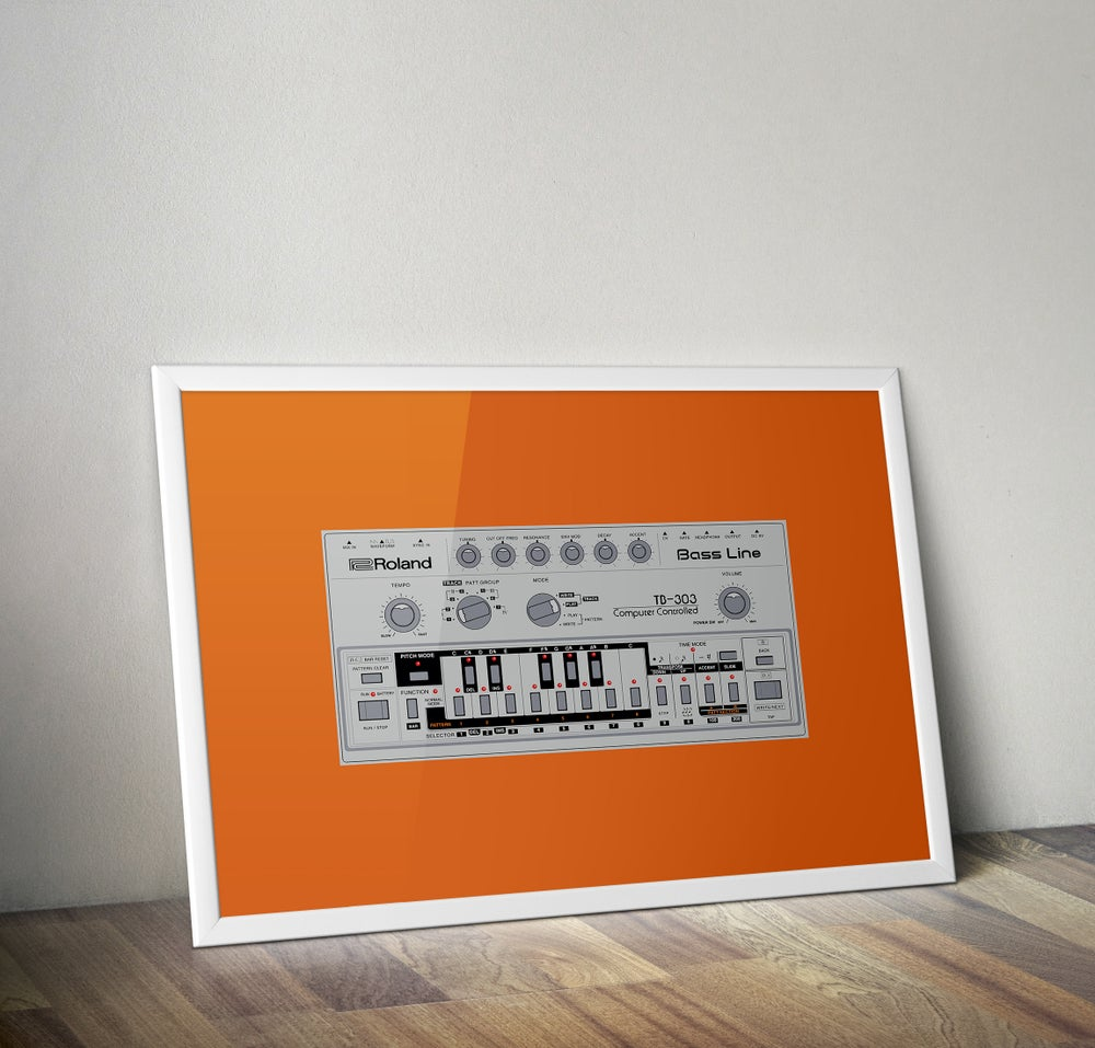 Image of Roland TB-303 (A3) unframed