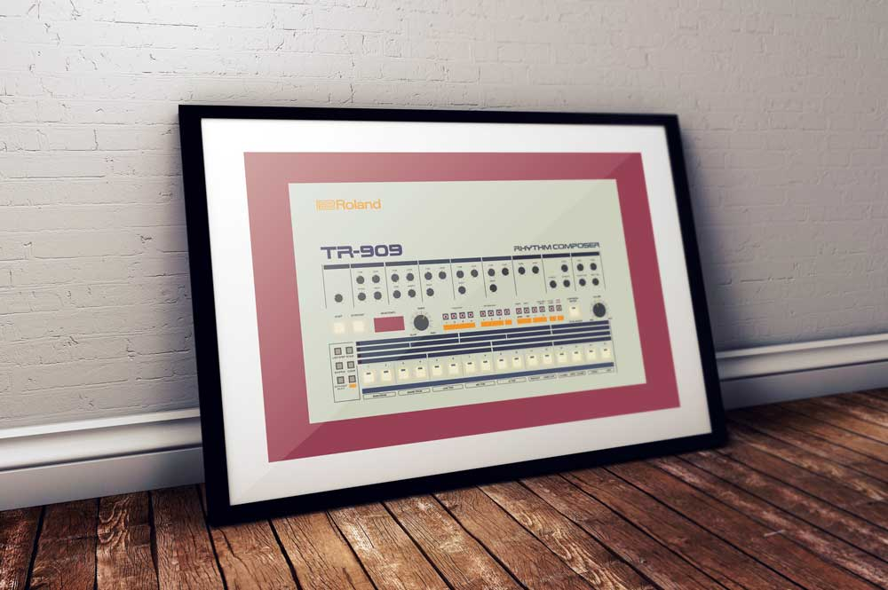 Image of Roland TR-909 (A2) unframed