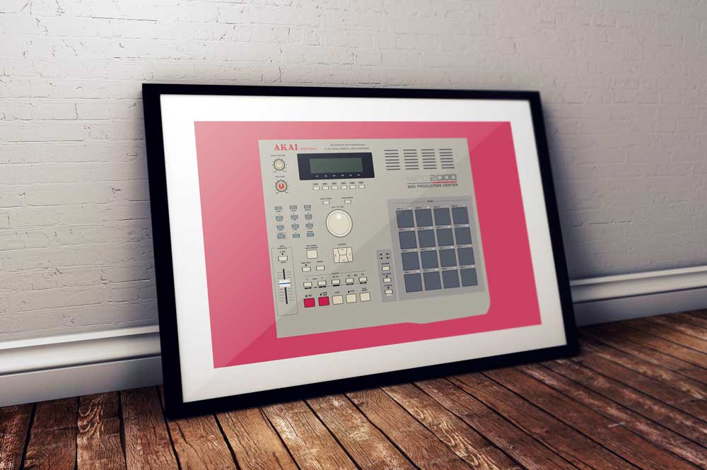 Image of Akai MPC 2000 (A2 Landscape) unframed