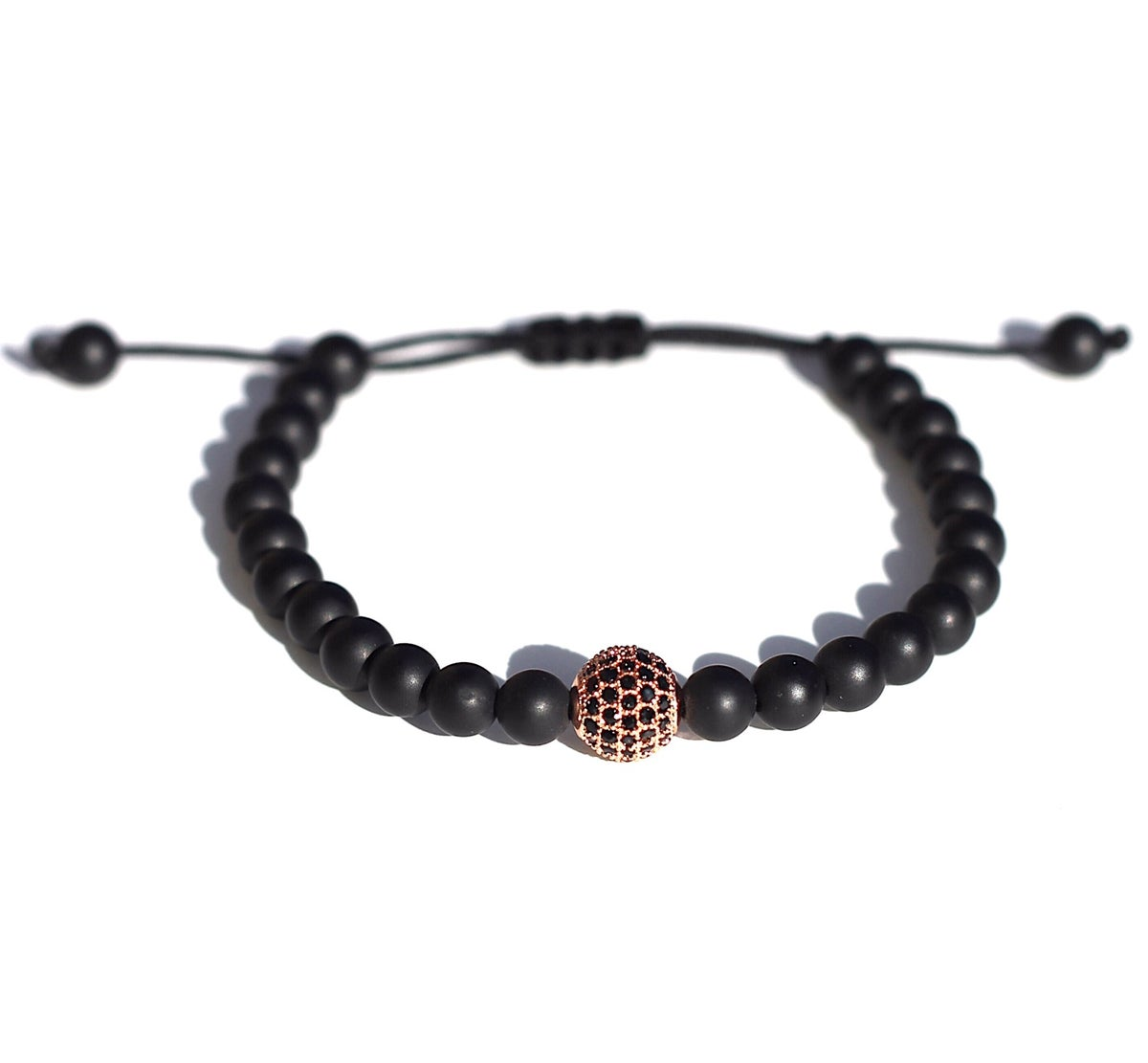 bead bd black web bracelet b gs products smile and agate rosegold