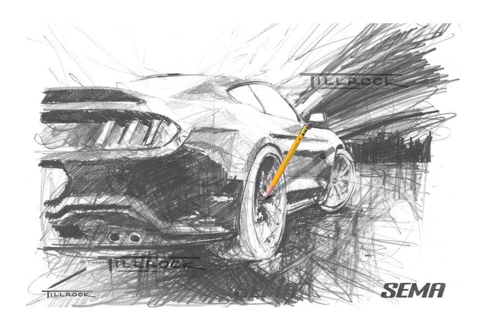 "Image of ""Mustang"" SEMA Show Print"