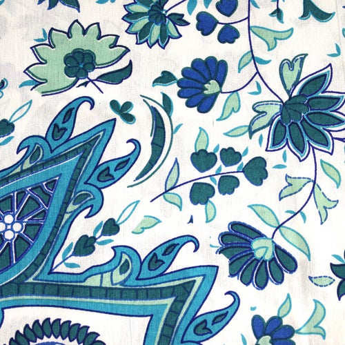 Image of Mosaic Dreams Doona Set in Pale Blue and Green-Marked down from $110, NOW