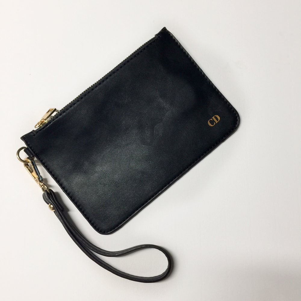 Image of Monogrammed wrist pouch