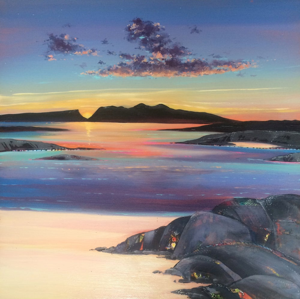 Image of Arisaig sunset small print