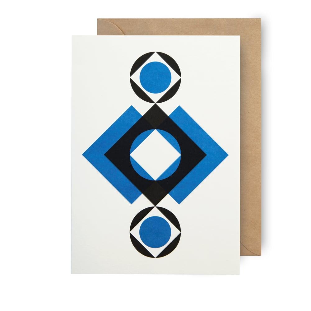 Image of Single card - rhombic eyes
