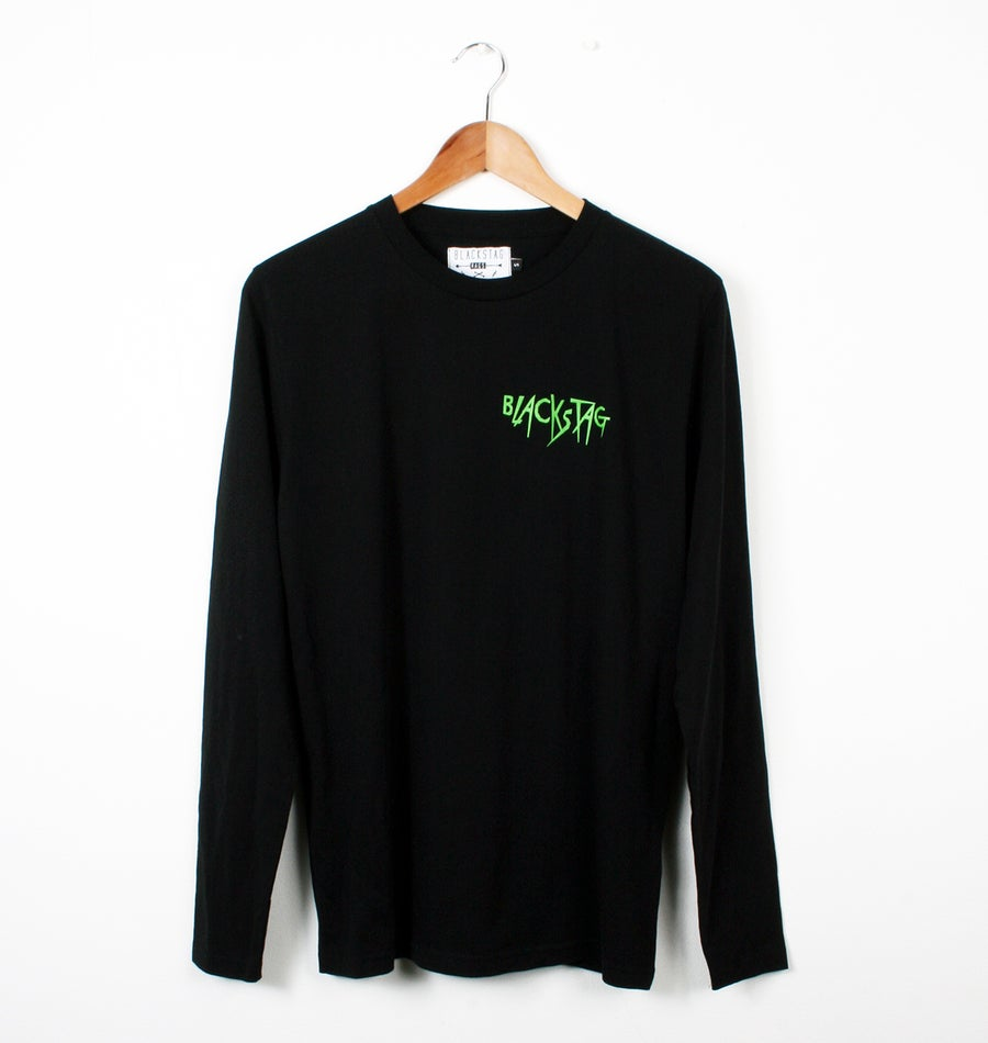 Image of Blackstag Ripper long sleeve black cotton t-shirt