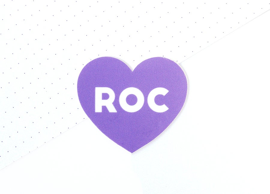 Image of I Heart ROC Heart Sticker - Pack of 3