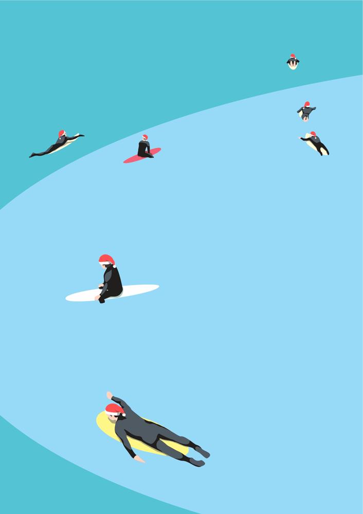 Image of Santa Surfers