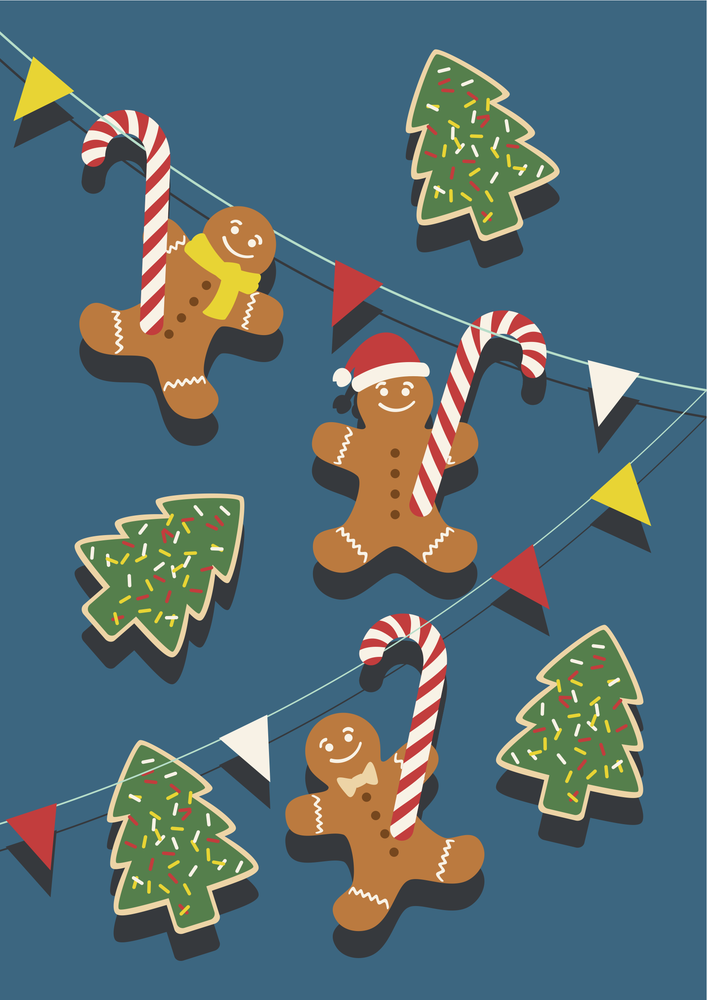 Image of Gingerbread Men and Candy Canes