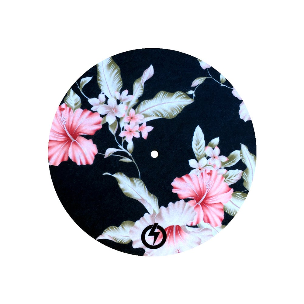 "Image of BLACK FLORAL - 7"" SLIPMAT"