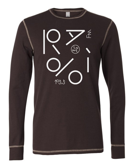 Image of Lumpen Radio Long Sleeve Thermal Shirt