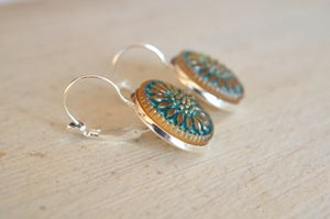 Czech Glass Button Earrings