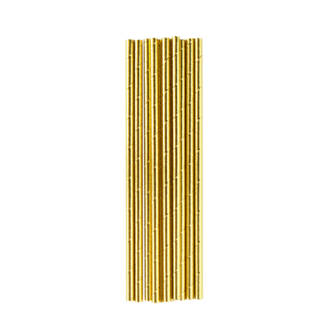 Image of Gold Metallic Straws