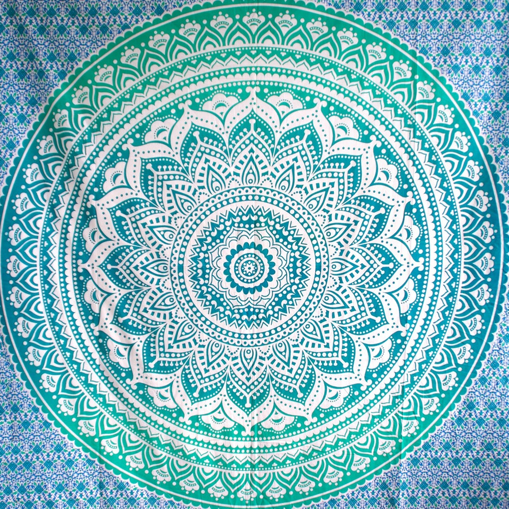 Image of Green Ombre Throw