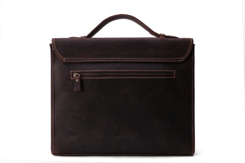 Image of Handcrafted Vintage Men Leather Bag, Men Briefcase, Laptop Bag 8902