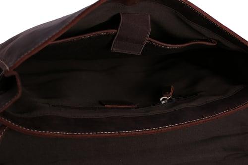 Image of Handcrafted Vintage Men Leather Bag, Men Briefcase, Laptop Bag 8902