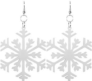 Snowflake Earrings - Black Heart Creatives