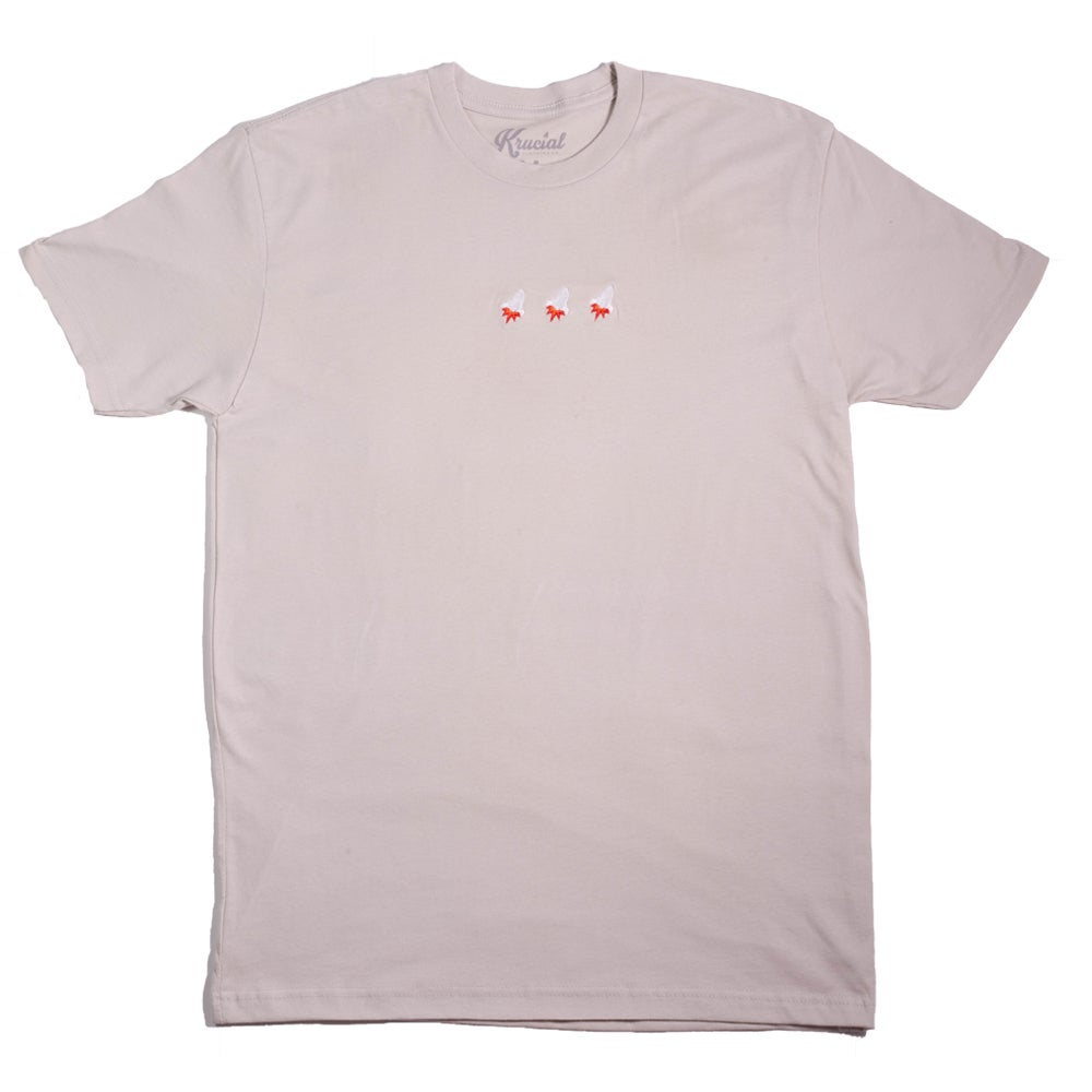 Image of Triple Rocket Embroidered Tee (Sand)