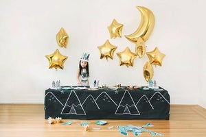 Image of Gold Foil Moon Balloon - 26""