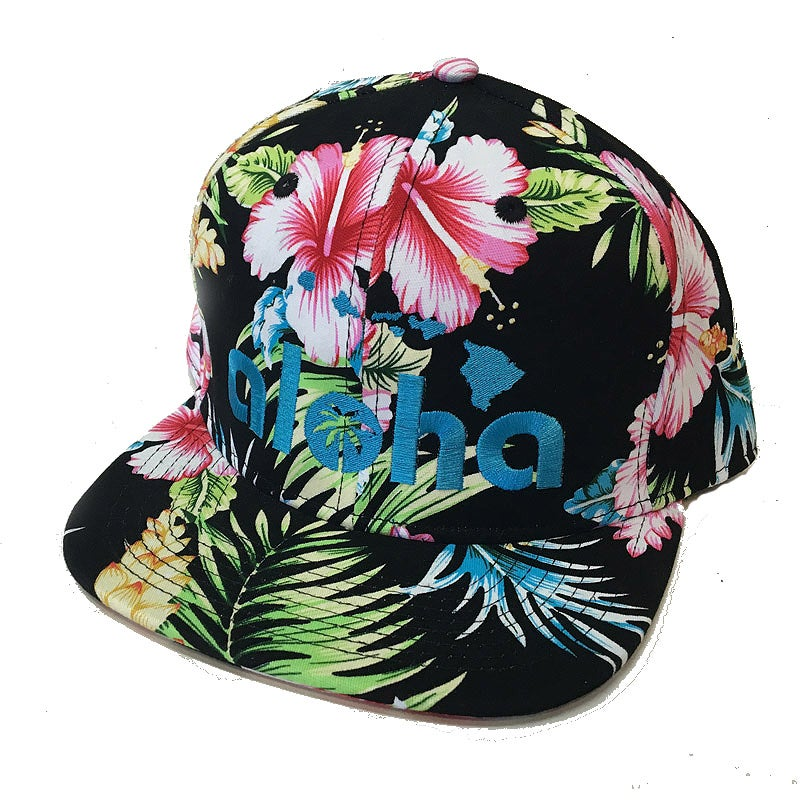 Image of Aloha Classic Black Floral Snapback Hat