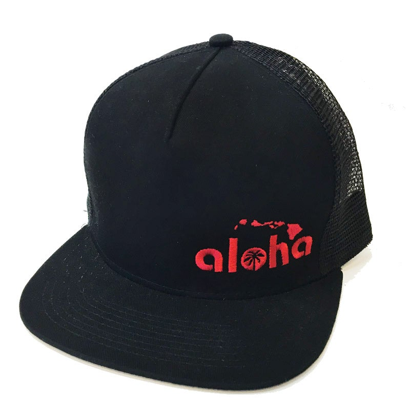 Image of Aloha Black Twill & Mesh Snapback