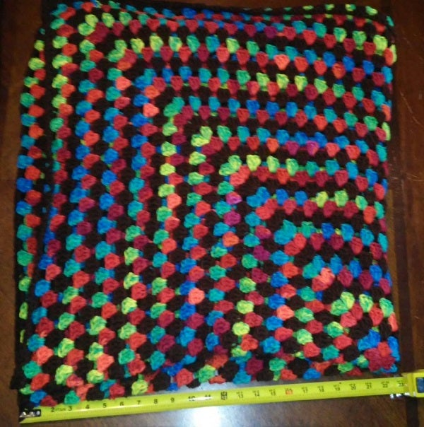 Image of 46x 46 Inch Granny Square Blanket with Bonus