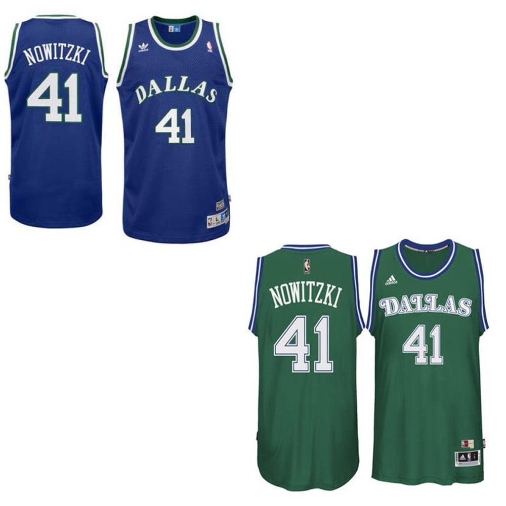 "Image of #41 ""Dirk Nowitzki"" Dallas Mavericks Throwback Jersey"